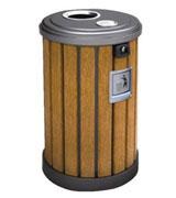 不锈钢盖灭烟钢木垃圾桶 HC3010,带盖钢木垃圾桶,带钥匙钢木垃圾桶,烟灰钢木垃圾桶