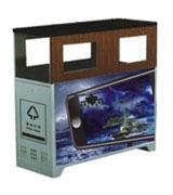 【环畅品牌】方形六口广告垃圾桶 HC7003