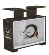 户外钢制分类广告垃圾桶 HC7006,分类垃圾桶,广告垃圾桶,大屏广告垃圾桶,户外垃圾桶,钢制垃圾桶