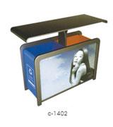 【环畅品牌】户外钢板分类广告垃圾桶 HC7012