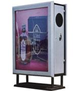 【环畅品牌】大屏不锈钢分类广告垃圾桶 HC7025