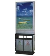 【环畅品牌】宽屏分类广告垃圾桶 HC7014