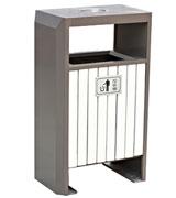 双侧投口支架烟灰钢木垃圾桶 HC3021,双投口钢木垃圾桶,烟灰钢木垃圾桶,支架钢木垃圾桶