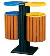 立式钢木分类垃圾桶 HC3205,钢木垃圾桶,分类垃圾桶,户外垃圾桶,钢板垃圾桶