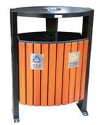 顶部烟灰缸钢木分类垃圾桶 HC3212,钢木垃圾桶,分类垃圾桶,木条垃圾桶,木条分类垃圾桶,烟灰缸垃圾桶