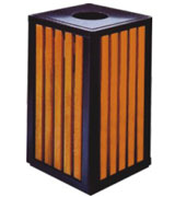 顶投口方形钢木垃圾桶单桶 HC3034,顶投口钢木垃圾桶,方形钢木垃圾桶,环保钢木垃圾桶