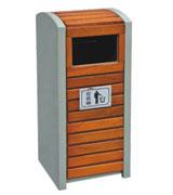 侧投口方形钢木垃圾桶单桶 HC3031,侧投口钢木垃圾桶,方形钢木垃圾桶,钢木垃圾桶单桶