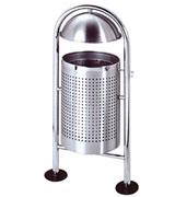 圆盖不锈钢垃圾桶 HC1023,不锈钢垃圾桶,圆筒垃圾桶,不锈钢透气垃圾桶