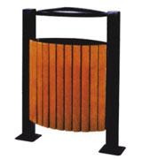 带盖烟灰盅支架钢木垃圾桶单桶 HC3046,带盖钢木垃圾桶,烟灰盅钢木垃圾桶,支架钢木垃圾桶