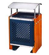 带盖透气孔方形钢木垃圾桶 HC3047,透气孔钢木垃圾桶,带盖钢木垃圾桶,方形钢木垃圾桶