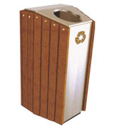 顶投口坐地式钢木垃圾桶单桶 HC3053,顶投口钢木垃圾桶,坐地式钢木垃圾桶,方形钢木垃圾桶