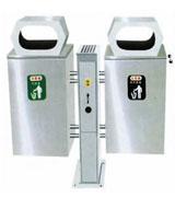 支架不锈钢分类垃圾桶 HC1011,不锈钢垃圾桶,分类垃圾桶,不锈钢分类垃圾桶