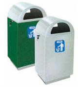 拱形盖不锈钢垃圾桶 HC1012,不锈钢垃圾桶,单筒垃圾桶,不锈钢单筒垃圾桶