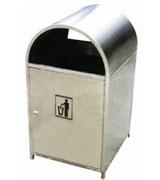 不锈钢果皮箱 HC1017,不锈钢垃圾桶,单筒垃圾桶,不锈钢圆形垃圾桶