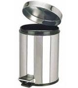 室内脚踏不锈钢垃圾桶 HC1040,不锈钢垃圾桶,脚踏翻盖垃圾桶,不锈钢单筒垃圾桶