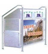 梯形不锈钢分类广告垃圾桶 HC1021,不锈钢垃圾桶,分类垃圾桶,不锈钢分类垃圾桶