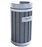 新生代圆筒环保垃圾桶 HC8011,钢制垃圾桶,单筒垃圾桶,不锈钢垃圾桶