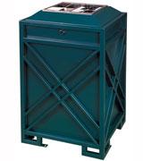 加固型钢制垃圾桶 HC2004,钢制垃圾桶,单筒垃圾桶,加固垃圾桶