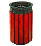 上投口圆形花纹钢木垃圾桶 HC3069,上投口钢木垃圾桶,花纹钢木垃圾桶,圆形钢木垃圾桶