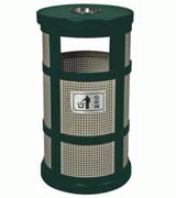 孔状钢制垃圾桶 HC2017,钢制垃圾桶,单筒垃圾桶,烟灰盅垃圾桶