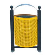 户外钢制垃圾桶 HC2019,钢制垃圾桶,单筒垃圾桶,透气垃圾桶