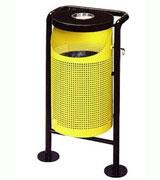 半切口钢制垃圾桶 HC2021,钢制垃圾桶,单筒垃圾桶,烟灰盅垃圾桶