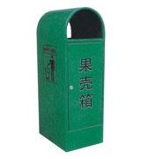 户外钢制果皮箱 HC2022,钢制垃圾桶,单筒垃圾桶,圆筒垃圾桶