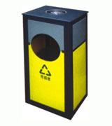方柱形钢制垃圾桶 HC2029,钢制垃圾桶,单筒垃圾桶,方形垃圾桶