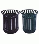敞口钢条钢制垃圾桶 HC2033,钢制垃圾桶,单筒垃圾桶,圆筒垃圾桶