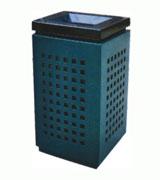 方格钢制垃圾桶 HC2032,钢制垃圾桶,单筒垃圾桶,方形垃圾桶