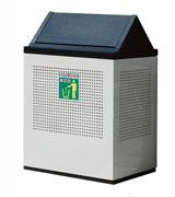悬挂挡板钢制垃圾桶 HC2034,钢制垃圾桶,单筒垃圾桶,方形垃圾桶