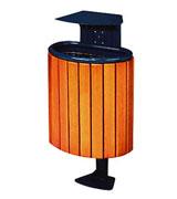 支架式顶投口带盖钢木垃圾桶 HC3074,支架式钢木垃圾桶,顶投口钢木垃圾桶,带盖钢木垃圾桶
