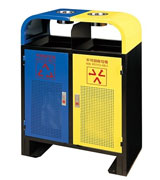 双侧投口气孔烟灰钢制垃圾桶 HC2202,双侧投口钢制垃圾桶,防臭气孔钢制垃圾桶,烟灰盅钢制垃圾桶