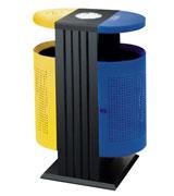 双侧投口带盖圆形烟灰钢制垃圾桶 HC2208,双侧投口钢制垃圾桶,带盖钢制垃圾桶,方形钢制垃圾桶