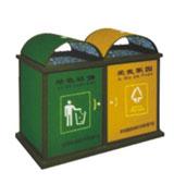 护卫分类牛奶盒垃圾桶 HC8002,牛奶盒垃圾桶,双筒垃圾桶,环保材质垃圾桶,方形垃圾桶