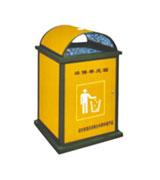街道加盖牛奶盒垃圾桶 HC8005,牛奶盒垃圾桶,单筒垃圾桶,环保材质垃圾桶,方形垃圾桶