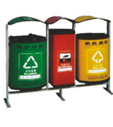 三分类牛奶盒户外垃圾桶 HC8008,环保垃圾桶,牛奶盒垃圾桶,环保分类垃圾桶