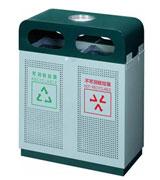双侧投口烟灰方形钢制垃圾桶 HC2212,双侧投口钢制垃圾桶,烟灰钢制垃圾桶,方形钢制垃圾桶