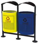 顶投口圆柱形分类钢制垃圾桶 HC2214,顶投口钢制垃圾桶,圆柱形钢制垃圾桶,分类钢制垃圾桶