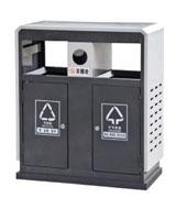 双侧投口方形烟灰钢制垃圾桶 HC2235,双侧投口钢制垃圾桶,方形钢制垃圾桶,烟灰钢制垃圾桶