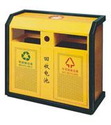 侧投口方形烟灰钢制垃圾桶 HC2221,侧投口钢制垃圾桶,烟灰钢制垃圾桶,废旧电池回收钢制垃圾桶