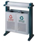 带盖顶投口方形钢制分类垃圾桶 HC2224,带盖钢制分类垃圾桶,方形钢制分类垃圾桶