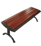 铸铁边公园 园林休闲椅 HCY009,公园休闲椅,园林休闲椅,防腐木休闲椅,无靠背休闲椅