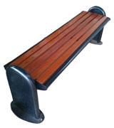 铸铁脚公园 园林休闲椅 HCY013,公园休闲椅,园林休闲椅,防腐木休闲椅,无靠背休闲椅