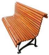 宽面积公园 园林休闲椅 HCY018,公园休闲椅,园林休闲椅,防腐木休闲椅,靠背休闲椅