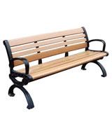 广场公园 园林靠背休闲椅 HCY029,公园休闲椅,园林休闲椅,防腐木休闲椅,靠背休闲椅
