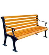 公园广场园林休闲椅 HCY031,公园休闲椅,园林休闲椅,防腐木休闲椅,靠背休闲椅,公园座椅,铸铁休闲椅