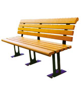 三脚支撑公园 园林休闲椅 HCY033,公园休闲椅,园林休闲椅,防腐木休闲椅,靠背休闲椅