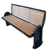 铸铁支架靠背公园 园林休闲椅 HCY048,公园休闲椅,园林休闲椅,防腐木休闲椅,靠背休闲椅
