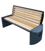 墩式靠背公园 园林休闲椅 HCY049,公园休闲椅,园林休闲椅,大理石休闲椅,靠背休闲椅